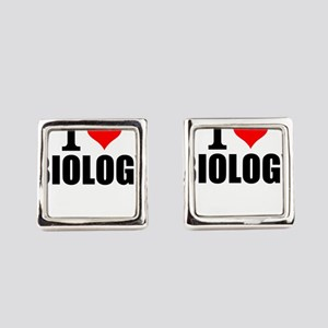I Love Biology Square Cufflinks