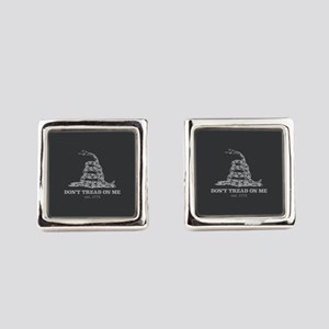 Don't Tread On Me Square Cufflinks