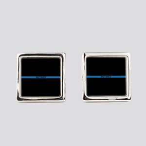 Retired Thin Blue Line Square Cufflinks