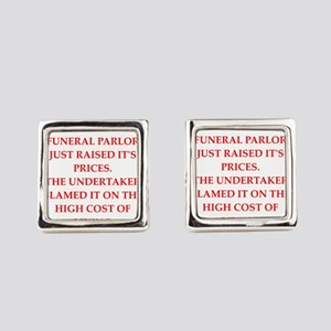 funeral parlor Square Cufflinks
