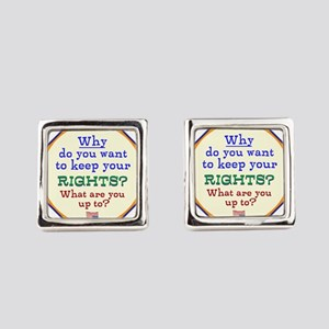 Constitutional Rights Square Cufflinks