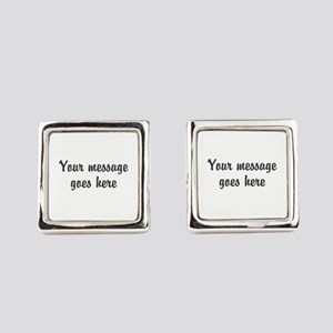 Custom Two Line Design Square Cufflinks