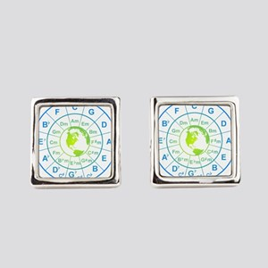circle of 5th earth Square Cufflinks