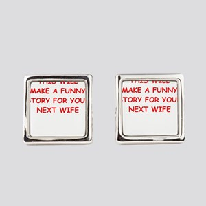 divorce Square Cufflinks