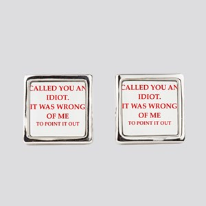 idiot Square Cufflinks