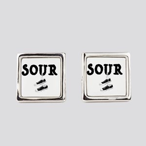 Sour Shoes Howard Stern Square Cufflinks
