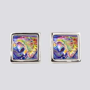 Music! Fun, colorful, sax! Cufflinks