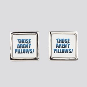 Those Aren't Pillows! Square Cufflinks