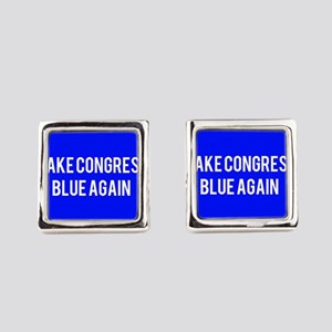 Make congress blue again Square Cufflinks