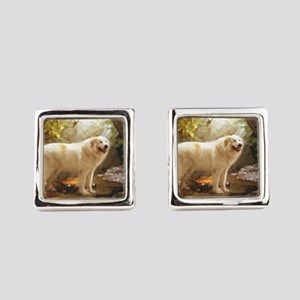 Great Pyrenees Alazon b Square Cufflinks