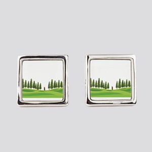 Wood Logger Forestry Logging Lumb Square Cufflinks
