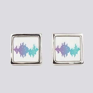 Sound Wave Technician Technical R Square Cufflinks