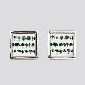 Tree Silhouettes Green 1 Cufflinks