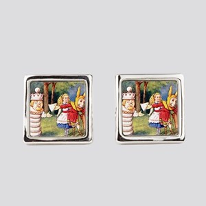 Alice THE WHITE KING_SQ Cufflinks