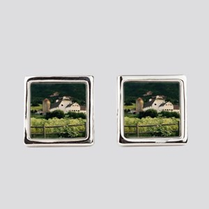 Park City Scene by LH Square Cufflinks