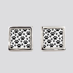 Dog Paws Square Cufflinks