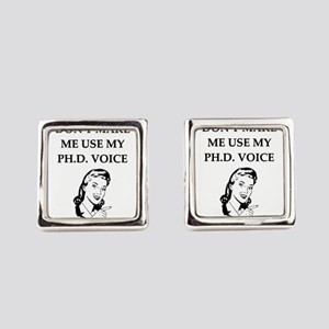 ph.d. joke Square Cufflinks