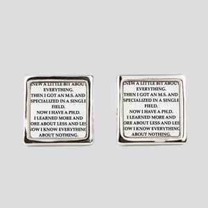 phd joke Square Cufflinks
