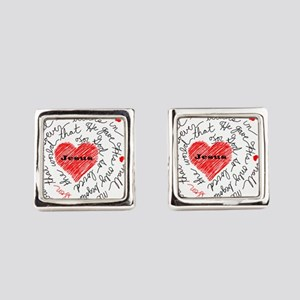For God So Loved the World Square Cufflinks