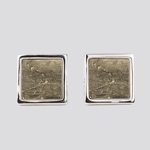 Vintage Pictorial Map of Rocheste Square Cufflinks