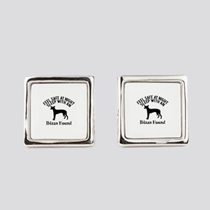 Feel Safe At Night Sleep With Ibi Square Cufflinks