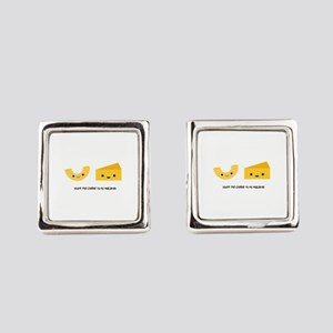 Macaroni And Cheese Square Cufflinks