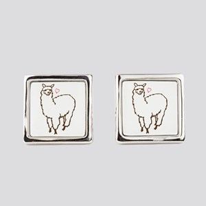 Cute Alpaca Square Cufflinks