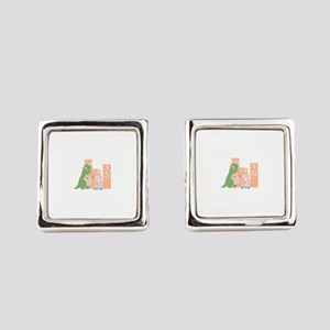 City Kaiju Square Cufflinks