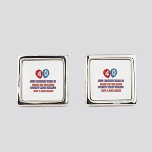 40 year old designs Square Cufflinks