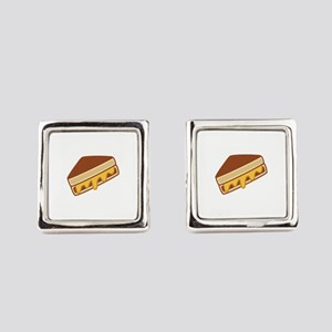 Grilled Cheese Square Cufflinks