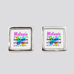 SOCIAL WORKER Square Cufflinks