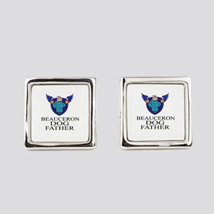 Beauceron Dog Father Square Cufflinks