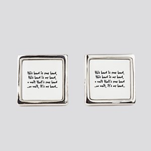 'The Hand Song' Square Cufflinks