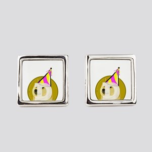 Party Doge Square Cufflinks