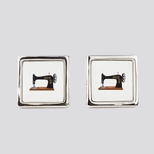 Sewing Machine 1 Square Cufflinks