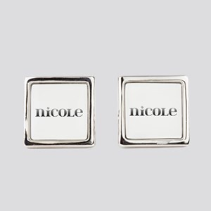 Nicole Carved Metal Cufflinks