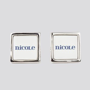 Nicole Blue Glass Cufflinks