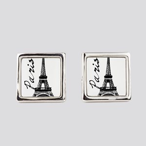 Paris Eifel Square Cufflinks