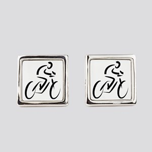 Cyclist Square Cufflinks