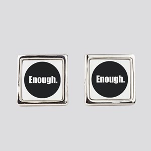 Enough. Square Cufflinks