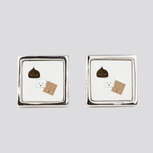 Smores Snack Square Cufflinks