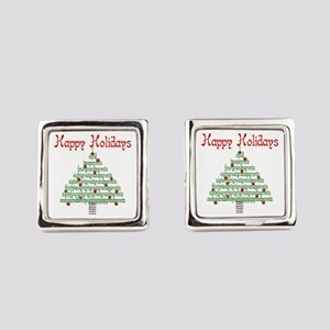 Genealogy NumbersTree Square Cufflinks