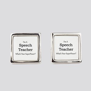 Speech Teacher Square Cufflinks