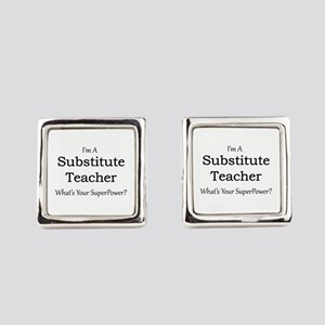 Substitute Teacher Square Cufflinks