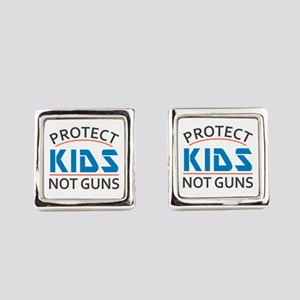 Protect Kids Not Guns Gun Control Square Cufflinks