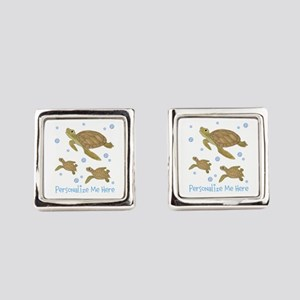 Personalized Sea Turtle Cufflinks
