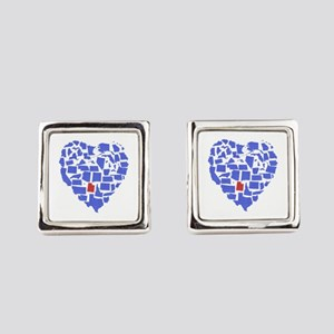 Utah Heart Square Cufflinks