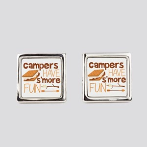 Campers Have S'more Fun Square Cufflinks