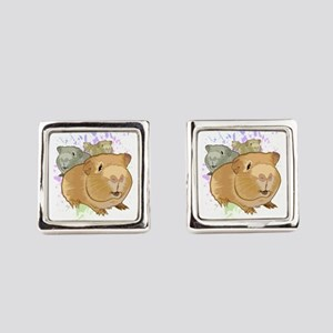 Guinea Pigs Square Cufflinks