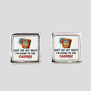 Out of My Way Casino! Square Cufflinks